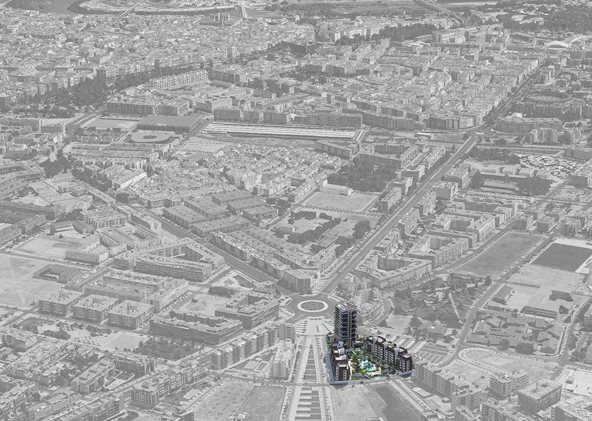 Piscinas Urbanización Torre del Agua Cordoba-impla-rio-baja